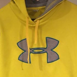 Yellow Under armour hoodie